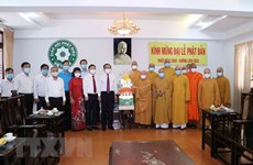 Greetings extended to Buddhists in HCM City on Buddha's birthday