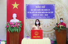 Vice President Vo Thi Anh Xuan goes to the poll in An Giang province