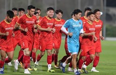 Vietnamese players tested for COVID-19 before friendly match with Jordan