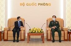 Defence Minister hosts Indian, Korean ambassadors