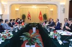 Top diplomats of Vietnam, UK hold talks in Hanoi