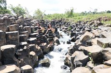 Ancient stone stream discovered in Gia Lai province