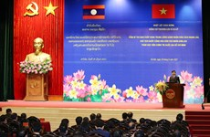 Top Lao leader visits Ho Chi Minh National Academy of Politics