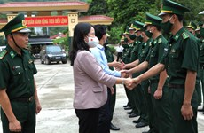 Vice President works with Ha Giang