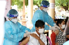 COVID-19: Cambodia finishes nearly 50 percent of vaccination target
