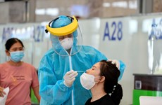 Rapid COVID-19 testing service available at Noi Bai Int'l Airport