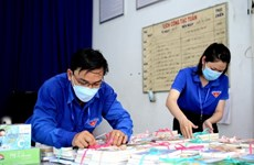 Books distributed to residents in HCM City quarantine facilities