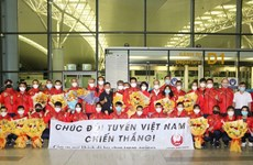 Vietnamese athletes arrive in Japan, ready for Olympics competitions