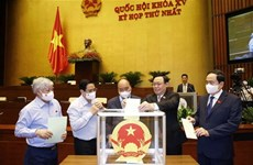 Bui Van Cuong re-elected as General Secretary of 15th National Assembly