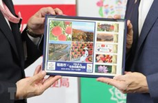 Fukushima issues stamp sets as host town of Vietnam's Olympic delegation