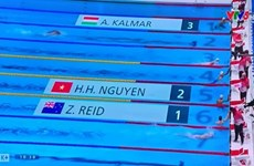 Swimmer Nguyen Huy Hoang to compete in men's 1500m freestyle
