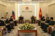 Defence Minister hosts Russian ambassador