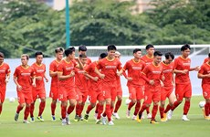 Training sessions of national men's football team held under bubble travel model