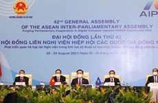 NA Chairman Vuong Dinh Hue attends AIPA-42 opening ceremony