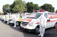 Defence ministry hands over 30 ambulances to support HCM City's COVID-19 fight