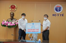 PetroVietnam donates 200 ventilators to treat severe COVID-19 patients