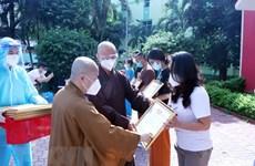 Religious volunteers in fight against COVID-19 honoured