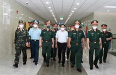 Deputy PM inspects COVID-19 prevention, control at Military Hospital 175