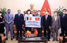 Romania donates 300,000 doses of COVID-19 vaccine to Vietnam