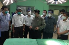 PM inspects COVID-19 treatment facilities in Binh Duong