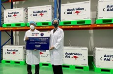 Vietnam receives 403,000 COVID-19 vaccine doses donated by Australian Government