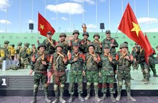 Vietnamese chemistry team performs well at 2021 Int'l Army Games