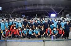 Vietnam football team return home to prepare for match against Australia