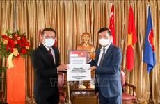 Temasek Foundation presents medical supplies to Vietnam