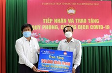 Dong Thap receives medical supplies for COVID-19 prevention