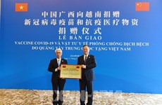 China's Guangxi donates 10 million USD worth of medical supplies to aid Vietnam's COVID-19 fight