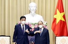 President receives visiting Japanese Defence Minister