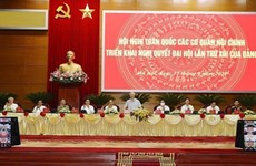 Conference of internal affairs agencies to realise 13th National Party Congress' Resolution opens