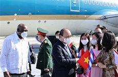 Vietnamese President arrives in Havana, beginning official friendly visit to Cuba