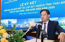 Thai Binh province signs MOU on planning work in 2021-2030