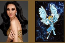 """Vietnamese beauty selects national costume named 'Angel"""" at Miss Grand International contest"""