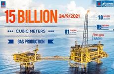Biendong POC's gas production crosses 15 bln cu.m mark