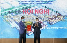 Hai Phong grants investment certificate to terminal construction project