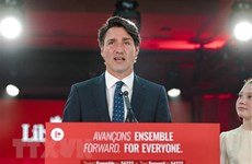 Congratulation to Canadian Prime Minister over Liberal Party's election win