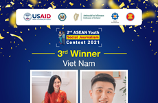Vietnamese students win third prize at ASEAN youth journalism contest