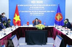 ASEAN ministers vow to enhance cooperation on transnational crime