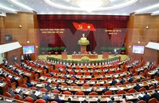Party Central Committee finishes first working day of fourth session