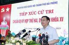 NA Chairman meets voters in Hai Phong