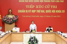 PM Pham Minh Chinh meets voters in Can Tho city
