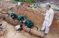 War-time bomb in Quang Tri safely handled