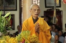 Supreme Patriarch of Vietnam Buddhist Sangha passes away