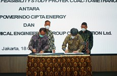 Indonesia, China begin feasibility study on 560 mln USD coal-to-methanol plant