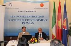 Italian firms interested in renewable energy in Vietnam, ASEAN
