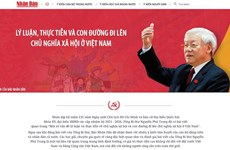 Nhan Dan newspaper launches website on Party General Secretary's article