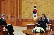 RoK President receives DPRK's delegation