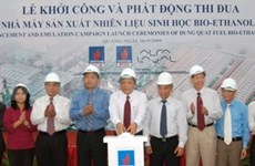 Work starts on 80 million USD bio-ethanol plant